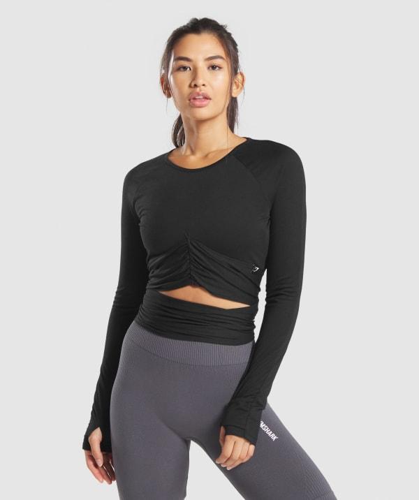 Women's Workout Crop Tops | Long Sleeve Gym Crop Tops | Gymshark