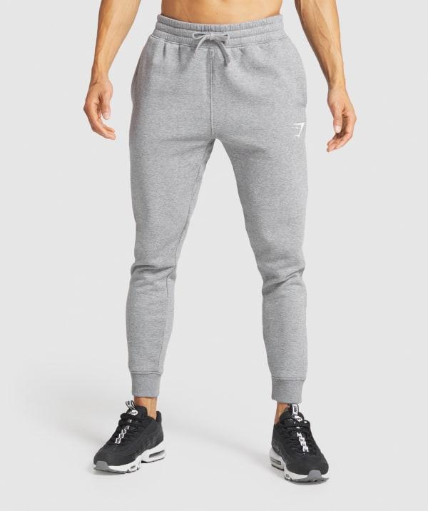 New Mens Gymshark Orbit Joggers Bottoms Chalk grey Size M Medium Sport