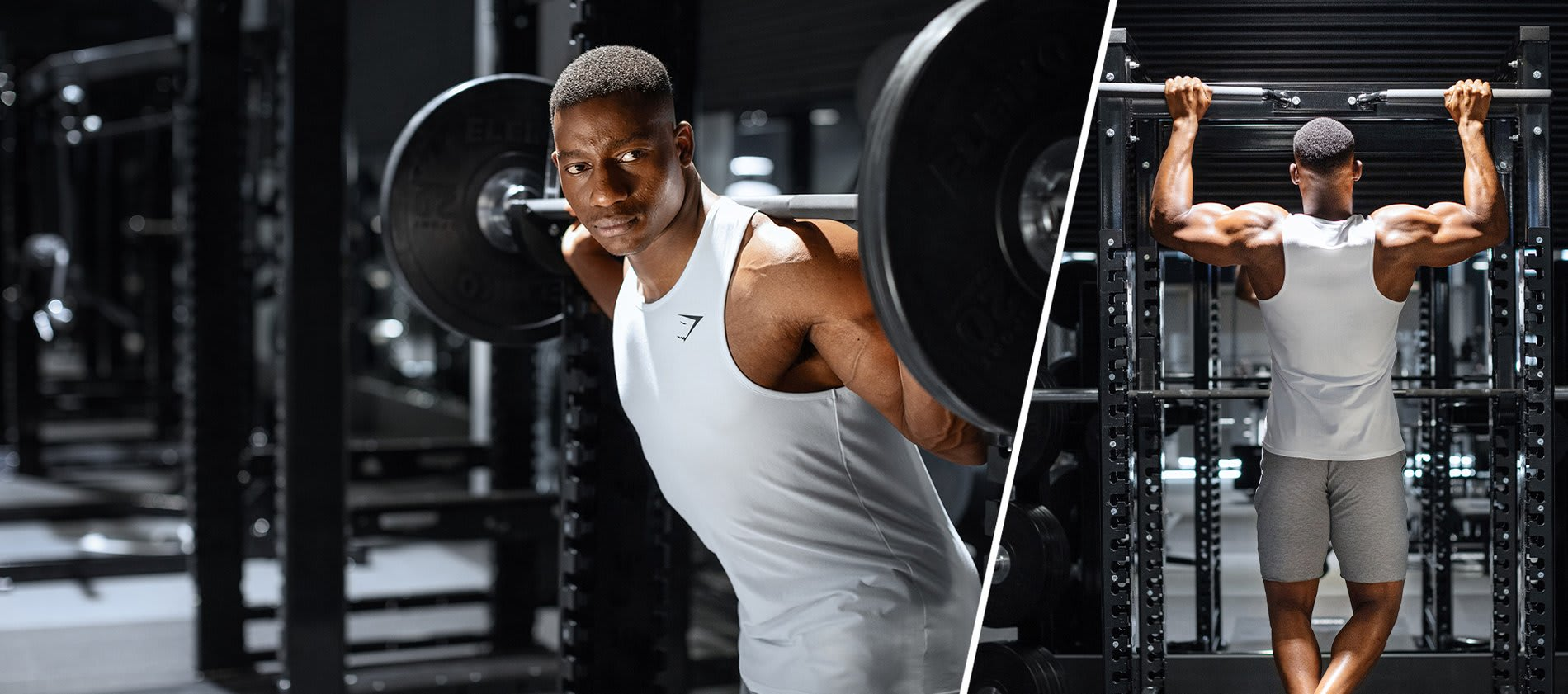 Gymshark Athlete Lubomba wearing Critical in the Gymshark Lifting Club.