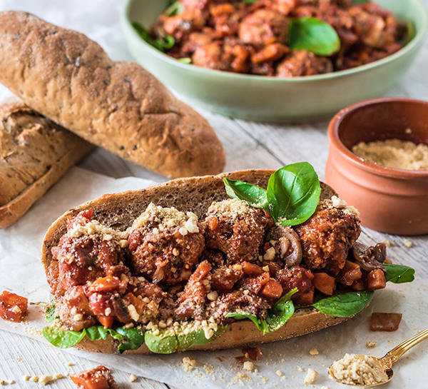 Vegan Meatball Sub Meal Prep Recipe