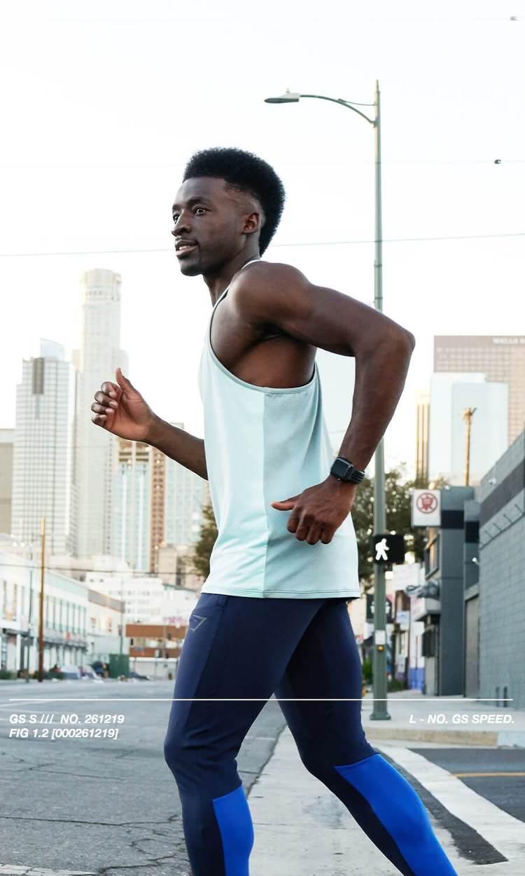 joggen an der frischen luft